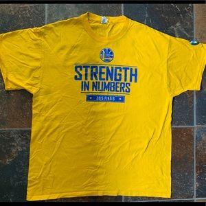 Golden State Warriors 2015 Finals Shirt Size XL